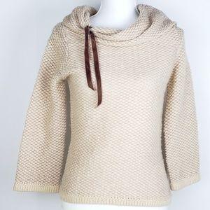 Anthro Sleeping Snow S Lambswool Cowl Neck Sweater